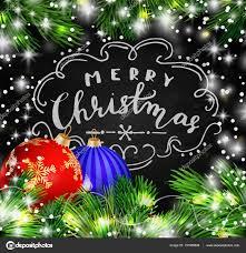 Chalkboard With Lights Black Chalkboard For Christmas Stock Vector Bastinda18