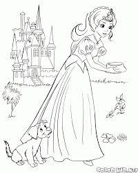 Disegni Da Colorare Principessa Nutre Il Cucciolo