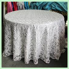 silver chemical lace tablecloth 90 round remarkable lively 1