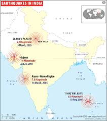 This mapping is done on the basis of past history and factors responsible for such disaster of present in that area. Earthquakes In India Areas Affected By Earthquakes In India