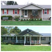 Ranch House Curb Appeal Curb Appeal Before And After Add Interest And Dimension To A