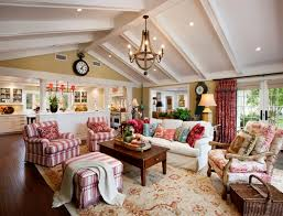 country cottage style living room. Traditional Family Room By Santa Barbara General Contractors Giffin U0026 Crane Inc 6 Stripes And Toile High Pitch Ceiling Lots Of Country Cottage Style Living