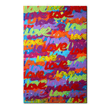 acrylic oil paint abstract canvas art words love for living room decoration wall painting for