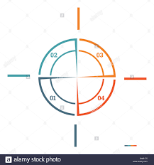 Infographic Pie Chart Template Colourful Circle From Lines