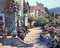 howard behrens old world charm 36x44 serigraph on paper