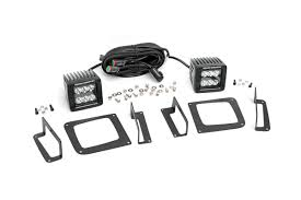 Rough Country Fog Light Kit Silverado Gmc 2 Inch Cree Led Fog Light Kit Black Series 14 15