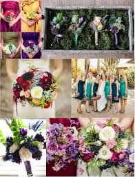 Bridesmaid gowns and floral design are two of the easiest ways to bring in jewel  tones.