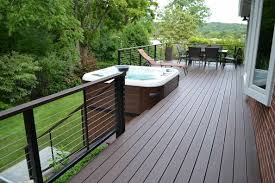 hot tub deck. Deck Railings Hot Tub