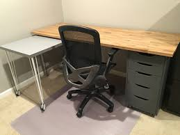 Ikea office desks Long Ikea Hack Home Office Desk Becausekidsgrowinfo Ikea Hack Custom Transforming Home Office Desks Saving Amy