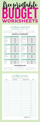 Top Free Printable Budget Worksheets Forms Worksheet