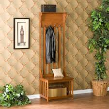 Entry Hall Bench Coat Rack Have to have it Southern Enterprises Mission Oak Hall Tree Entry 61