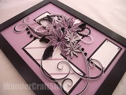 Paper Quilling Flower Frames Anniversary Gift For Her Quilling By Wondercraftshop