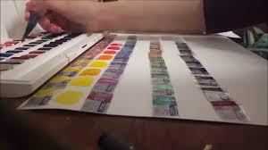 Winsor And Newton Cotman Color Chart Winsor Newton Cotman Watercolors Half Pans 45 Colours