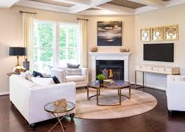modern sectional sofa design for awesome family room decorating with best large round rugs under iron glass table ideas and decorate corner fireplace also