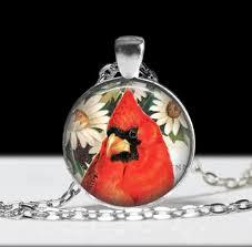 cardinal jewelry bird pendant wearable art bird pendant charm bird cardinal necklace cardinal gift