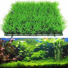 Fish Tank Square Artificial Grass Lawn Aquarium Fake Grass Mat Decor