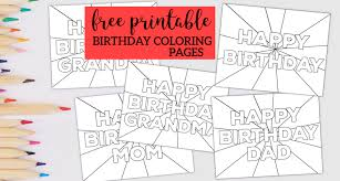 We hope you enjoy our happy birthday coloring pages. Free Printable Happy Birthday Coloring Pages Paper Trail Design