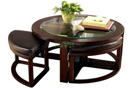 fabulous round coffee table with stools underneath with kitchen beautiful wonderful round coffee table seats underneath