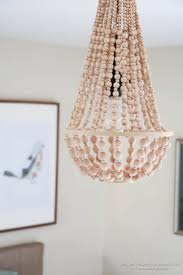 remodelaholic how to make a wood bead chandelier with regard to amazing home diy wood bead chandelier plan