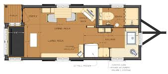 pre trailer floor plan tiny house fat crunchy ana home building