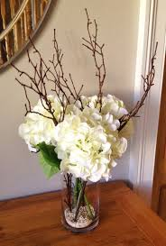 flower arrangements dining room table: flower arrangements with twigs realistic hydrangea floral arrangements with twigs set in