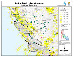 great shakeout earthquake drills  central coast area