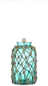 turquoise table lamp blue glass bottle rope lamps australia