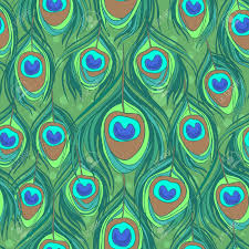 Peacock Pattern Fascinating Colorful Peacock Feather Seamless Pattern Royalty Free Cliparts