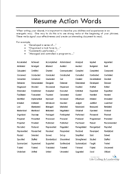 Verb List For Resumes Good Action Words For Resumes Flamingo Spa