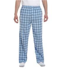 Light Blue Plaid Pants Flannel Pants Blue Black