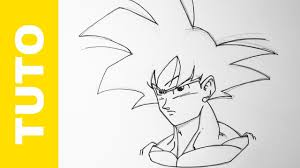 Comment Dessiner Goku Facilement Dragon Ball Z Tutoriel Youtube