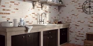 Red Brick Tiles Kitchen Manhattan Rustic White Red Brick Effect Wall Tiles