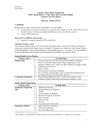 Resume For Dental Assistant Job Dental Assistant Job Description For Resume Resume For Dental 3