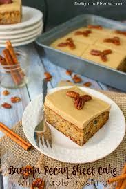 Banana Pecan Sheet Cake DelightfulEMade vert5 wtxt 683x1024