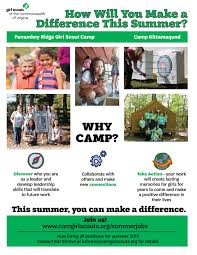 our council employment girl scouts of the commonwealth of virginia summer camp jobs 2017