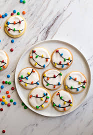 christmas sugar cookies. Modren Cookies Christmas Lights Cookies For Santa A Small Batch Sugar Cookie Recipe With  Easy Royal Icing In Sugar A
