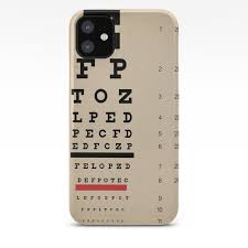 Vintage Inspired Eye Chart Visual Acuity Vintage Eye Chart Distressed Canvas Textured Iphone Case By Traciv