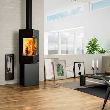 Wood heating stove / contemporary / steel - Q-BE