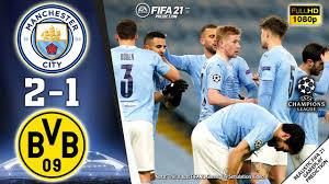 Manchester City vs Borussia Dortmund 2-1 | Goals & Highlights | 06/04/21 |  Champions League