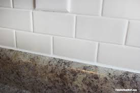 caulking kitchen backsplash. Caulking Steps - Makes Your Work Look Like It Was Done By A Professional. Supplies Kitchen Backsplash O