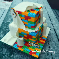 Puzzle Cake Designs The Making Of A Lego Cake Grated Nutmeg