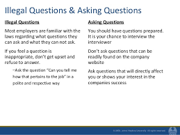 Questions To Not Ask In An Interview Acing The Interview Fall 2010