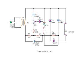 xenon strobe light 110v by scr circuit diagram world xenon strobe light 110v by scr
