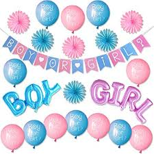 Boy Or Girl Baby Announcement Gender Reveal Party Supplies Kit Boy Or Girl Baby Shower Decorations Pregnancy Announcement Boy Or Girl Banner And Balloons Boy And Girl Foil