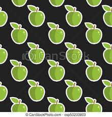 Apple Pattern Gorgeous Apple Fruit Cute Seamless Food Pattern Background