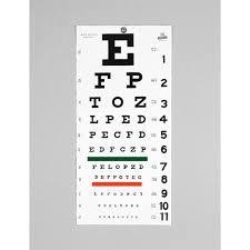 Eye Chart Letters Snellen Eye Chart
