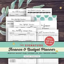 Monthly Finance Planner Financial Planner Budget Planner Printable Finance Planner Etsy