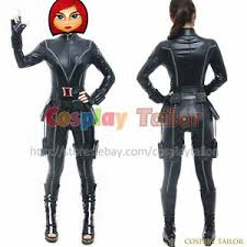 Details About The Avengers 1 Natasha Romanoff Cosplay Black Widow Costume Sexy Party Uniform