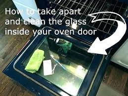 clean oven door seal cleaning between glass inside interesting how to