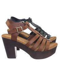 cedar1 tan by top moda lightweight sculpted faux wooden platform chunky block heel cage sandal 0